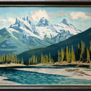 PETER EWART (CANADIAN, 1918-2001)    - THREE SISTERS, ALBERTA
