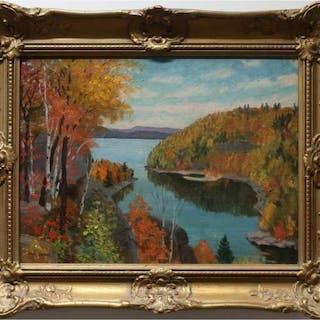 THOMAS ALBERT STONE (CANADIAN, 1897-1978)- REDSTONE LAKE, HALIBURTON