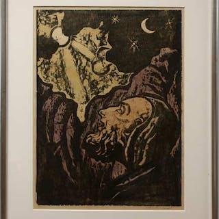 JAKOB STEINHARDT (ISRAELI, 1887-1968)    - UNTITLED (NEW DAY BEGINNING)