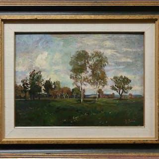 HENRI BEAU (CANADIAN, 1863-1949) -  SUMMER LANDSCAPE
