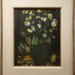 LOUIS MUHLSTOCK (CANADIAN, 1904-2001)  - FLORAL STUDY