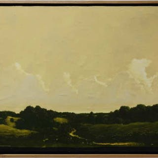 ROBERT MARCHESSAULT (CANADIAN, 1953-)  -  UNTITLED (YELLOWS SKIES)