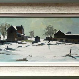 RONALD N. OKEY (CANADIAN, 1921-)   -  UNTITLED (WINTER FARM STUDY)