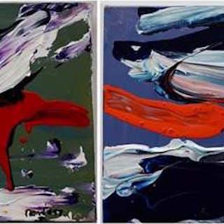 "WILLIAM SMITH RONALD (CANADIAN, 1926-1998)  - ""EVERGLADE"" & ""TIM BUCK TU"""
