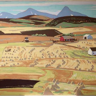 SAMPSON & MATTHEWS LTD. (A.Y. JACKSON, 1882-1974)   - ALBERTA FARM