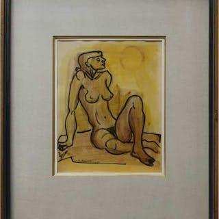 FRITZ BRANDTNER (CANADIAN, 1896-1969)  - SEATED NUDE