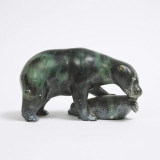 MANNO (1923-1973), Frobisher Bay / Iqaluit  - BEAR AND SEAL