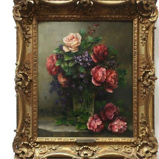 F. CLAIRVAL (FRENCH, 19TH/20TH CENTURY)- FLORAL STUDY