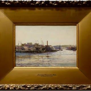 ROBERT FORD GAGEN (CANADIAN, 1847-1926)     - EVENING GLOUCESTER, MASS.