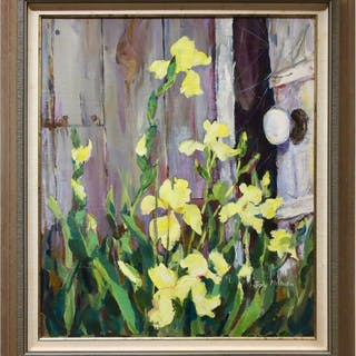JOY MILBURN (CANADIAN, 20TH CENTURY)  -  UNTITLED (YELLOW FLOWERS)