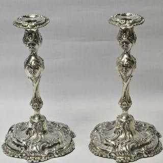Antique Silver Candlesticks