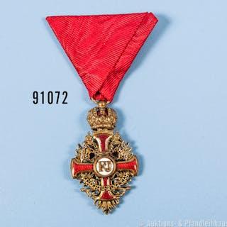 Österreich Franz Joseph-Orden Ritterkreuz Bronze vergoldet, guter