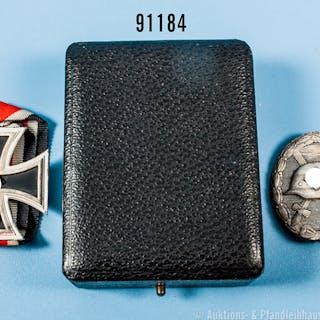 """Konv. EK 2 1939, Hersteller """"113"""" im Bandring, VWA in Silber, Zinkausf."""