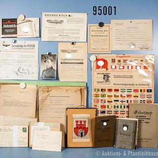 umfangreiches Konvolut Dokumente VK und Besatzungszone, u.a. Wehrpass