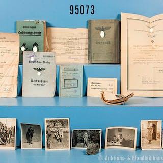 Dokumentennachlass einer Familie, bestehend aus HJ-Leistungsbuch mit