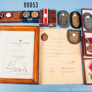 Konv. Verschiedenes, u. a. ausländische Auszeichnungen, teilweise