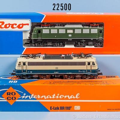 Konv. 2 Roco H0 Lokomotiven, dabei 4137 B E-Lok der DB, BN 110 401-7