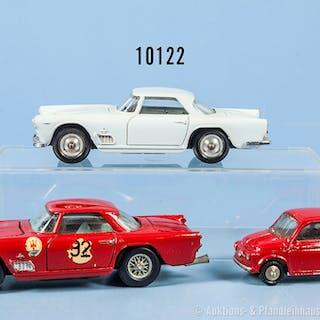 Konv. 3 Mercury Modellfahrzeuge, 2 x Maserati 3500 GT, 1 x Rallyeausf.