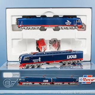 Roco H0 63750 Doppel-E-Lok der LKAB, BN IORE 105 und IORE 106, bei