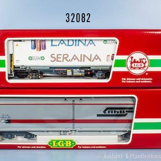 Konv. 2 LGB Spur IIm Güterwagen, dabei 41570 Schiebewandwagen und