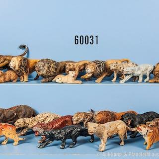 Konv. 21 Wildkatzen, u. a. Tiger, Löwen, Panther usw., teilweise versch.