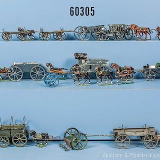 Konv. diverse Gespanne, überwiegend Sachsen um 1900, dabei Feldwagen