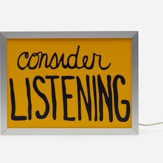 SAM DURANT, Consider Listening | Wright20.com