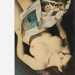 ARTIST UNKNOWN, Untitled (nude reading a magazine) | Wright20.com