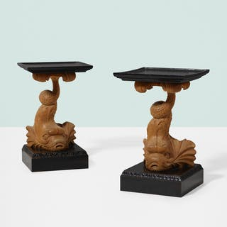 T.H. ROBSJOHN-GIBBINGS, occasional tables, pair | Wright20.com