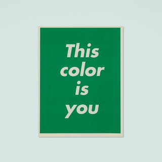 BARBARA KRUGER, This Color is You | Wright20.com