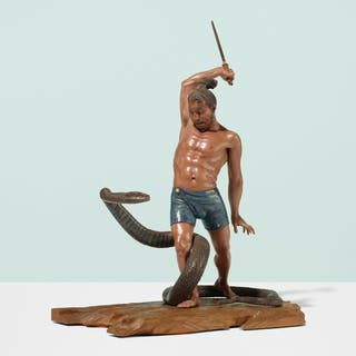 JAPANESE, Monumental Iki-ningyō figure | Wright20.com