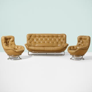 AIRBORNE INTERNATIONAL, Sopho sofa and pair of lounge chairs | Wright20.com