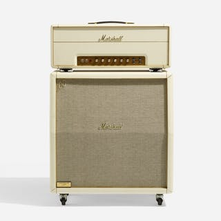 MARSHALL, White Anniversary half-stack amplifier with road cases | Wright20.com