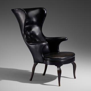 FRITS HENNINGSEN, Rare Wingback armchair | Wright20.com