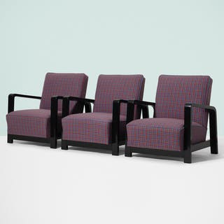 HUNGARIAN, lounge chairs, set of three | Wright20.com