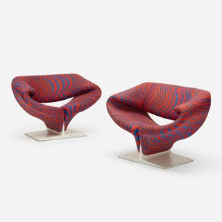 PIERRE PAULIN, Ribbon chairs, pair | Wright20.com