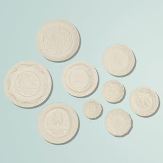 STUDIO JOB, Biscuit plates, set of nine | Wright20.com