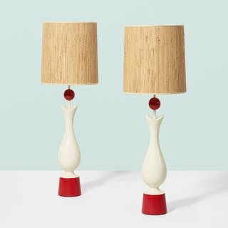 FRENCH, table lamps, pair | Wright20.com
