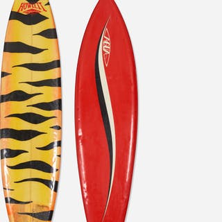 AGUA AND HOWLETT SURFBOARDS, surfboard, set of two | Wright20.com
