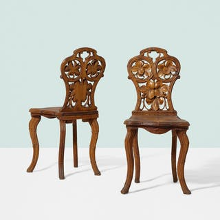 BLACK FOREST, chairs, pair | Wright20.com