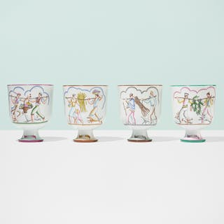 GIO PONTI, Le quattro stagioni vases, set of four | Wright20.com
