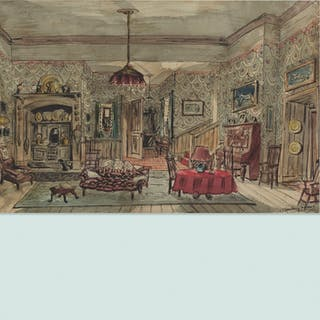 WILLIAM STANLEY MOORE, Untitled (design for a stage set) | Wright20.com