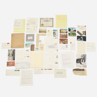BRUCE CONNER, collection of letters and ephemera | Wright20.com