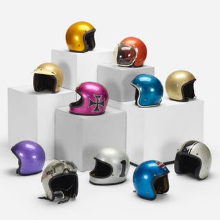 MODERN, collection of eleven motorcycle helmets | Wright20.com