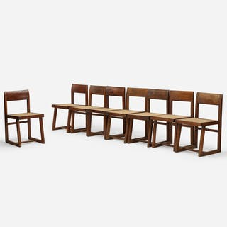 PIERRE JEANNERET, chairs from Chandigarh, set of eight | Wright20.com