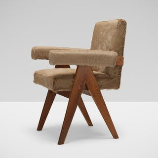 PIERRE JEANNERET, Committee armchair from High Court, Chandigarh | Wright20.com
