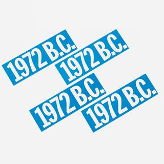 BRUCE CONNER, Untitled (1972 B.C. bumperstickers set of four)   Wright20.com