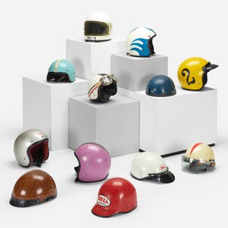 MODERN, collection of twelve motorcycle helmets | Wright20.com