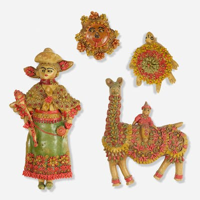 FOLK ART, collection of figures from Textiles & Objects | Wright20.com