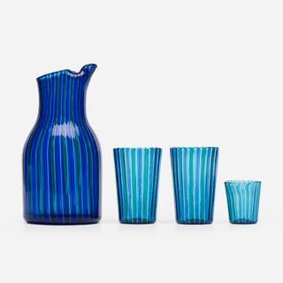 GIO PONTI, A Canne pitcher and glasses | Wright20.com